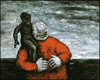 Devil with Laughing Man - Peter Booth, 1981