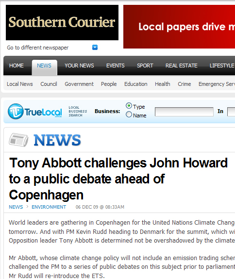 tony abbott challenges PM